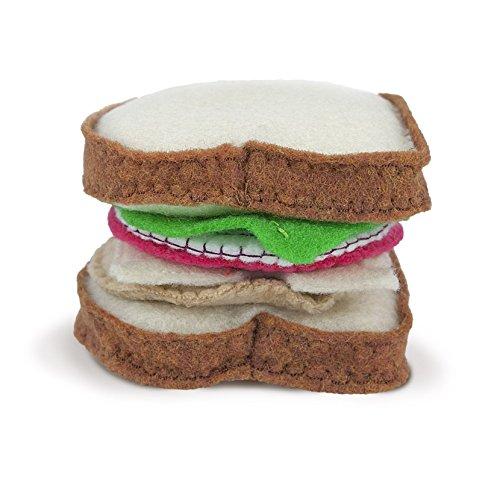 Fieltro 'Sammich' conjunto de pan, tomate, cebolla, queso, lechuga, y carne