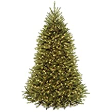 National Tree 7 1/2 Foot Hinged Dunhill Fir Tree with 750 Clear Lights, CSA (DUH3-75LO-4)