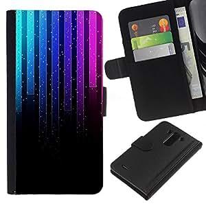 All Phone Most Case / Oferta Especial Cáscara Funda de cuero Monedero Cubierta de proteccion Caso / Wallet Case for LG G3 // Music Neon Graph