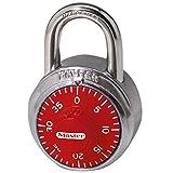 Master Lock 1504D 1-7/8in Combination Lock; Red Dial Padlock