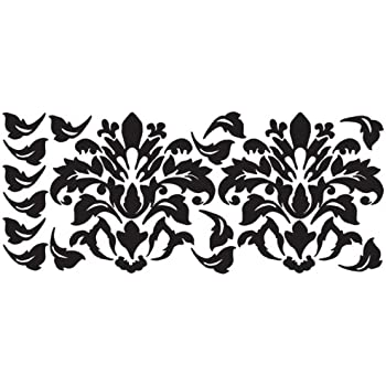 Awesome RoomMates RMK1171GM Black Damask Peel U0026 Stick Wall Decals Part 30