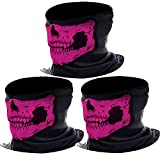 Kyпить eBoot 3 Pack Seamless Skull Face Tube Mask Motorcycle Face Mask Outdoor Mask Sport Headwear (Pink) на Amazon.com