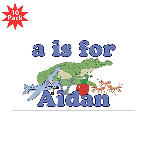 CafePress - A Is For Aidan - Rectangle Bumper Sticker (10-pack), Car Decal
