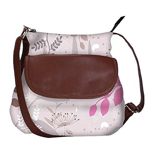 Snoogg Light Color Pattern Casual Spacious MultiPurpose Sling Bag Carry Around - Goa Light