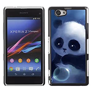 Hot Style Cell Phone PC Hard Case Cover // M00100733 sad panda art painting // Sony Xepria Z1 Mini