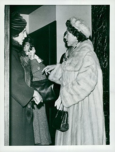 - Vintage photo of Queen Frederika of Greece (Frederika of Hannover) talks with the Duchess of Kent
