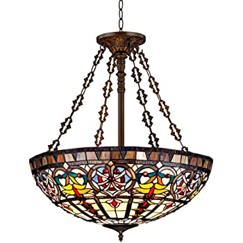 Ornamental tiffany style 24 wide art glass pendant light ornamental tiffany style 24quot wide art glass pendant light aloadofball Gallery