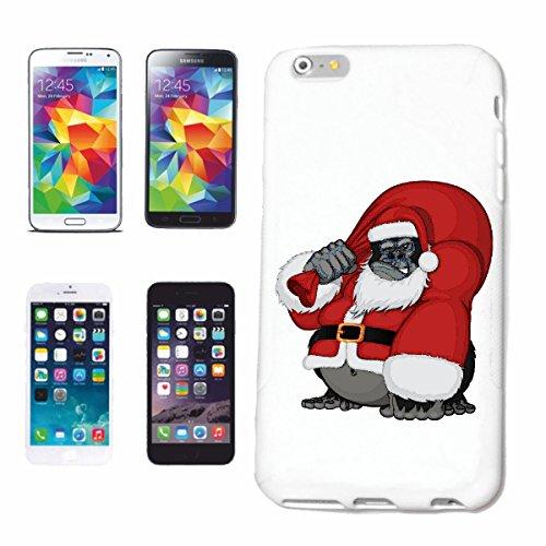 """cas de téléphone iPhone 7S """"GORILLA AS SANTA être Nikolaus JOYEUX NOËL MONKEY MONKEY GORILLA CHIMP SILVER RETOUR APE CHARLY MONKEY KING KONG"""" Hard Case Cover Téléphone Covers Smart Cover pour Apple iP"""