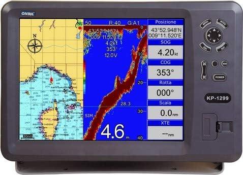 Plotter Cartografía con Ecoscandaglio ONWA KP-1299C con transductor pasante de plástico: Amazon.es: Electrónica