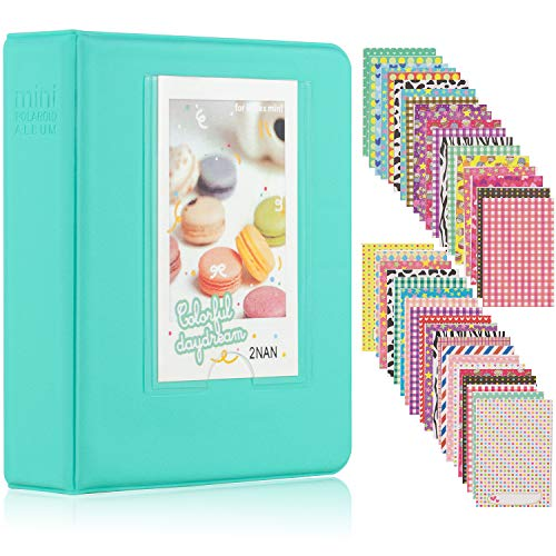 Ablus 64 Pockets Mini Photo Album for Fujifilm Instax Mini 7s 8 8+ 9 25 26 50s 70 90 Instant Camera & Name Card (64 Pockets, -