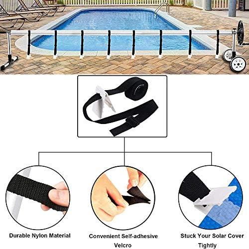 32 PCS Solar Cover Reel Attachment Kit Swimming Pool Sun Visor Fixed Attachment Set for Universal in Ground Swimming Pool Solar Reel 10Ft To 24Ft