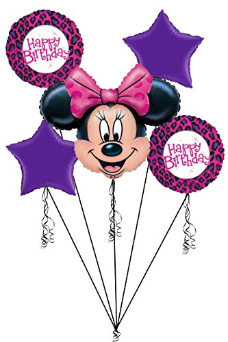 Bouquet Sweater (Disney Minnie Mouse Cheetah Happy Birthday Balloon Bouquet)