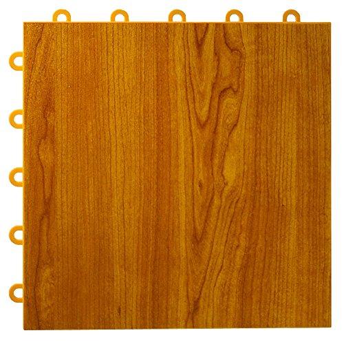 Greatmats Max Tile Laminate Floor Tile 26 Pack (Walnut) (Best Waterproof Laminate Flooring For Basement)