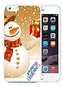 2014 Newest iPhone 6 Plus Case,Christmas snowman White iPhone 6 Plus 5.5 TPU Case 20