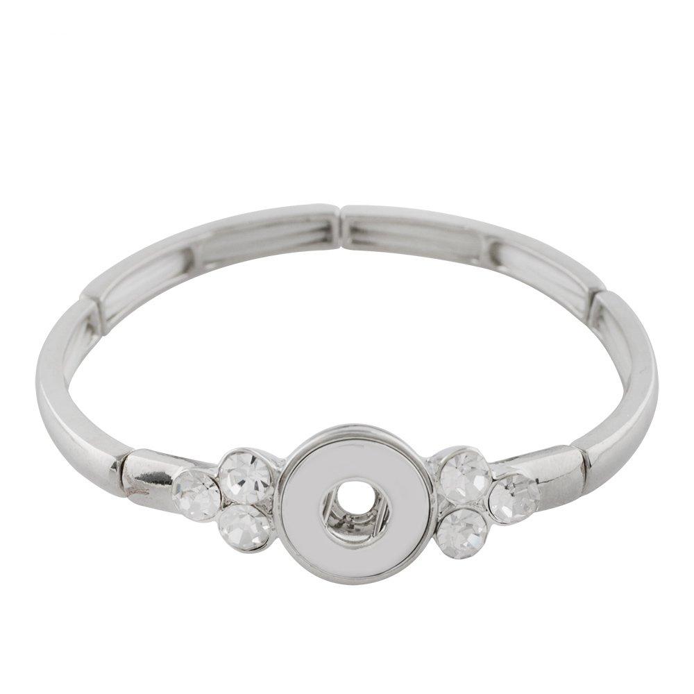 LOV*Moment Lovmoment Mini Bracelets Metal Bracelet for Women Fit 12mm Interchangeable Snaps Charms Partnerbeads KS1170-S
