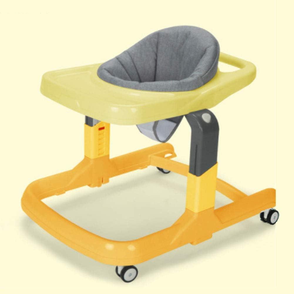 RHSML El Andador Multifuncional, El Ajuste Plegable Desmontable Antivuelco Puede Empujar Y Sentar Al Andador Infantil Durante 7-18 Meses Bebé