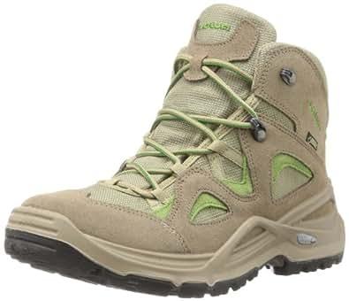 Lowa Women's Bora Goretex QC Hiking Boot,Stone/Green,5.5 M US