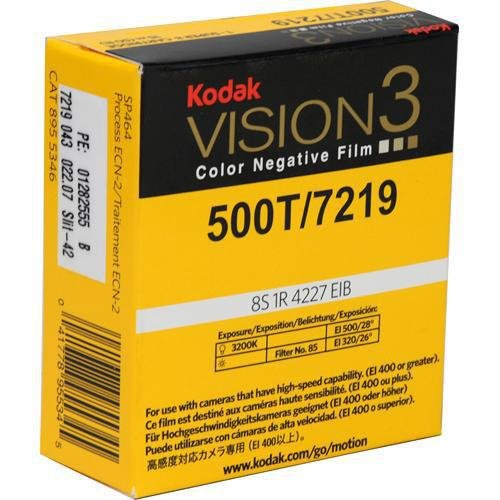 KODAK VISION3 500T/7219 Color Negative Film, SP464 Super 8 Cartridge, 50' Roll 50' Roll 8955346