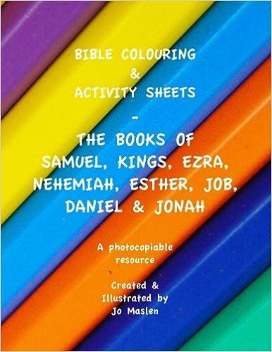 Bible Colouring Activity Sheets The Books Of Samuel Kings Ezra