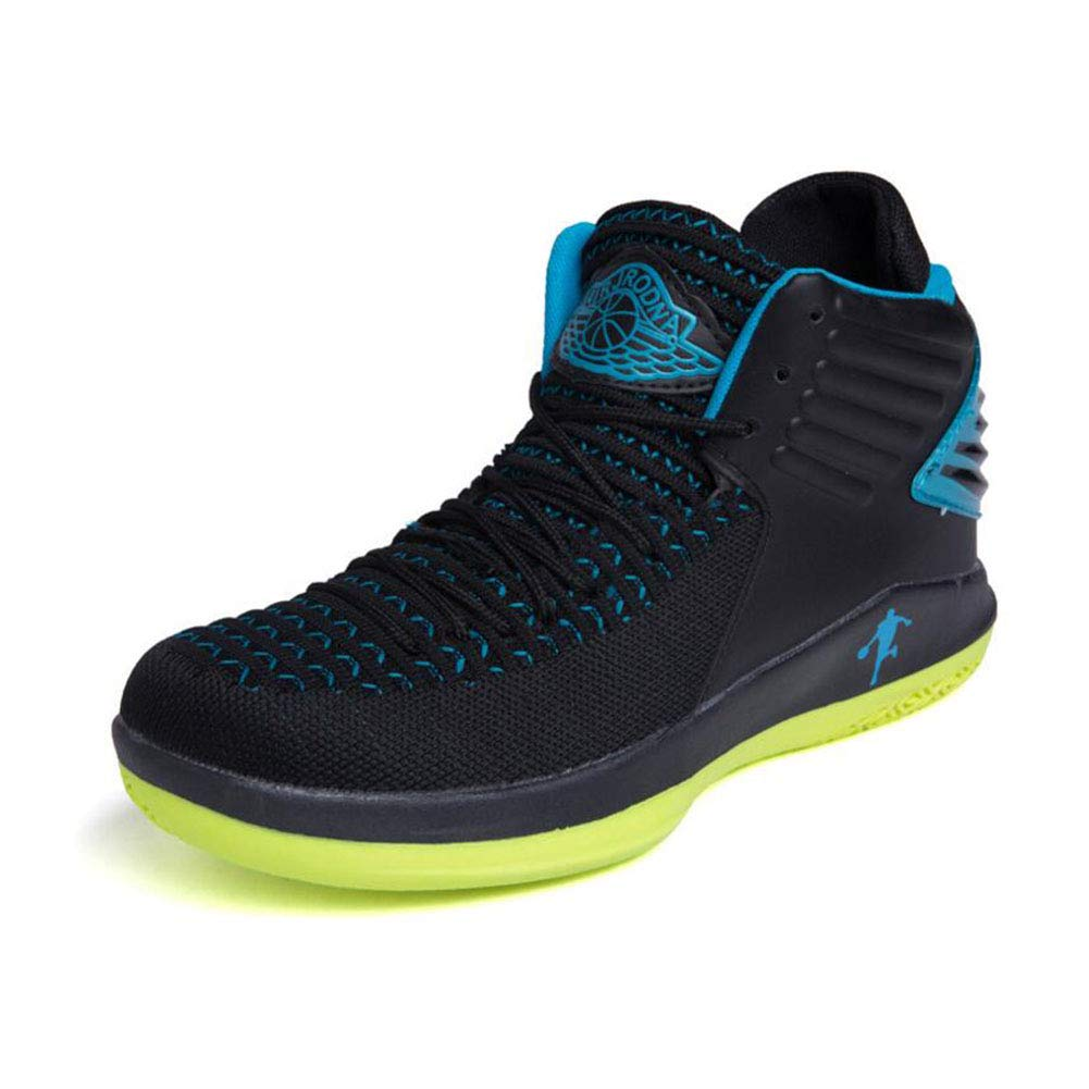 B YAXUAN New Breathable Basketball shoes Men's High Boots Wear-resistant Shock Absorbing Sports shoes Basketball Student shoes