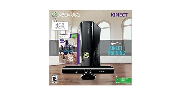 Microsoft Xbox 360 Nike+ Kinect Training - juegos de PC (Xbox 360, 512 MB, DDR3, DVD, 4 GB, 10, 100 Mbit/s) Negro: Amazon.es: Videojuegos