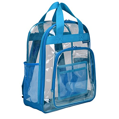 U.S. Traveler Clear School Travel Daypack Backpack, Blue, One Size
