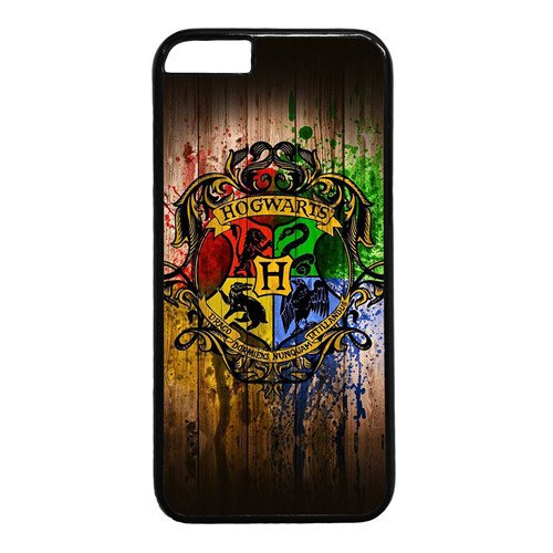 Iphone 6 Case,Hogwarts Harry-potter in Wooden Background Design PC Black Case for Iphone 6 4.7inch(F Series)