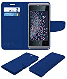 Acm Mobile Leather Flip Flap Wallet Case for Micromax Bolt Supreme Q300 Mobile Cover Blue