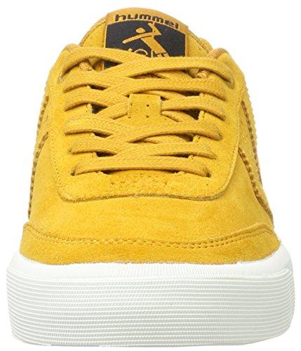 Calabrone Camoscio Sneaker Unisex - Stoccolma Camoscio Basse - Scarpe Casual Div Colori -. Colore Halbschuh - Scarpe Per Lestate - Della Scarpa Da Tennis Marrone Stile Vulcanizzata (oro Inca)