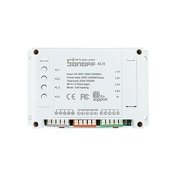 Busirde Sonoff 4 Canales conmutador de Canal de WiFi de ...