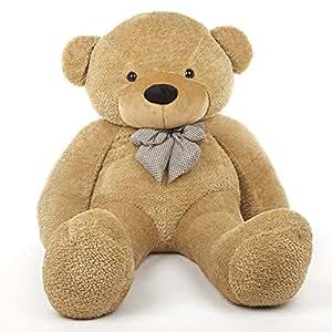 6 Foot Life-size Teddy Bear Amber Brown Color Huge Stuffed Animal Teddybear Shaggy Cuddles
