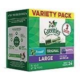 GREENIES 3-Flavor Variety Pack Large Dog Dental Chews 36 Ounces 24 Treats