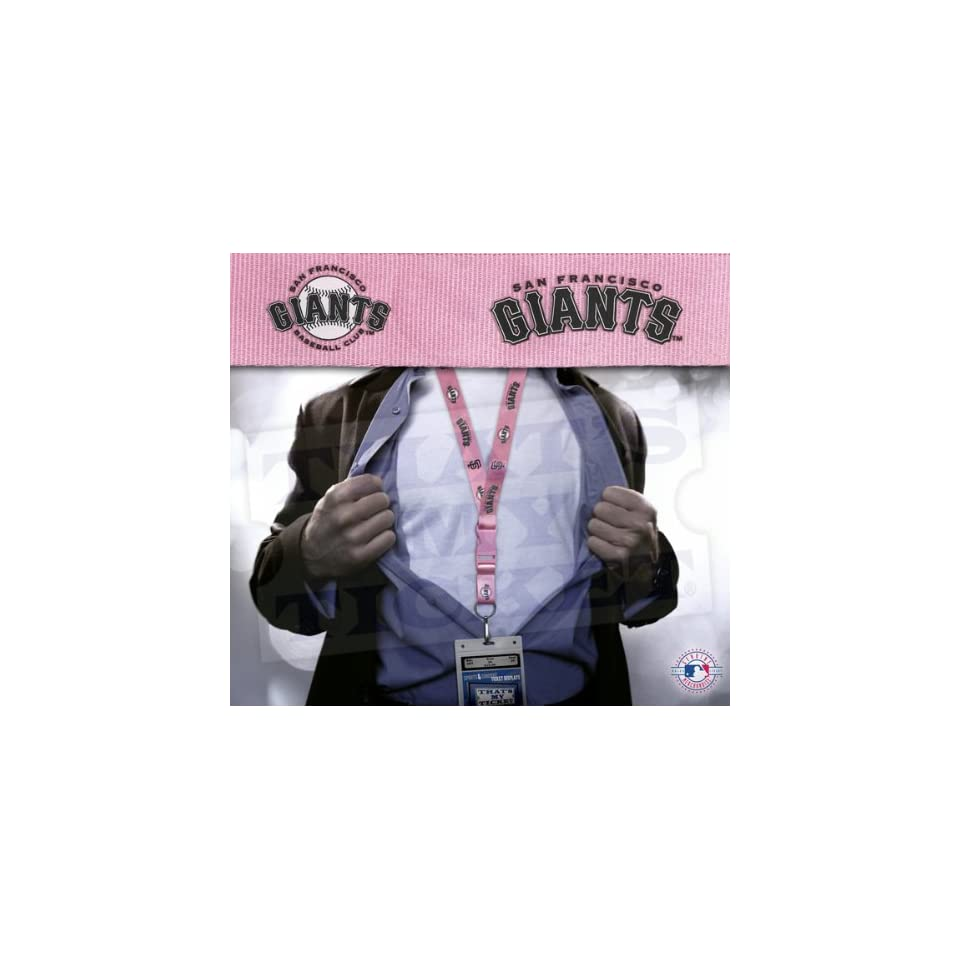 San Francisco Giants MLB Lanyard Key Chain and Ticket Holder   Pink