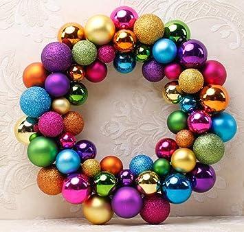 Ndr Weihnachtsbaum.Queta Weihnachtskugeln Baumschmuck Weihnachtsbaum Weihnachtskugeln Set 55pcs Weihnachtsball Girlande Für Weihnachten Dekoration Bunt
