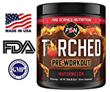 Fire Science Nutrition Torched Pre Workout Supplement – NO Creatine – Natural Preworkout for Intense Energy & Endurance with NO CRASH – Made in the USA – 30 Servings – Watermelon