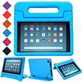 BMOUO Kids Case for All-New Fire HD 8 2018 - Shock Proof Light Weight Convertible Handle Stand Protective Cover Kid-Proof Case for Amazon Fire HD 8 (8th Generation, 2018 Release), Blue