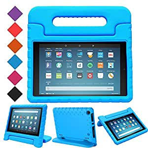 BMOUO Case for All-New Fire HD 8 2017 - Light Weight Shock Proof Convertible Handle Kid-Proof Cover Kids Case for All-New Fire HD 8 Tablet (7th Generation, 2017 Release), Blue