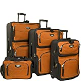 Traveler's Choice Amsterdam 4-Piece Luggage Set (Orange)
