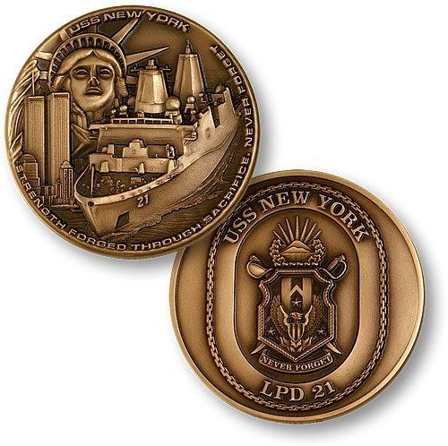 Northwest Territorial Mint Navy USS New York Challenge Coin