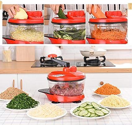 ieGeek Picador de Vegetales Multifunción, Cortador de Alimentos de ...