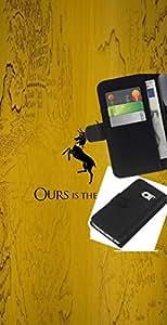 """A-type (La nuestra es la Furia Baratheon"""") Colorida Impresión Funda Cuero Monedero Caja Bolsa Cubierta Caja Piel Card Slots Para Samsung Galaxy S6 EDGE (NOT S6)"""