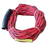 HMSPORT Inflatable Towable Ski Tow Rope, Maxium For Two Rider or 340 Pounds, PP Material, Red Colour, Length 60 Feet(18.3 meter)
