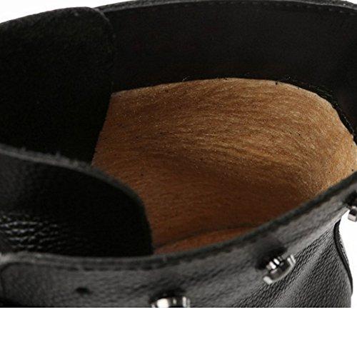 y antideslizante botines la parte superior la con de en Botines Negro cordones comodidad con cordones COOLCEPT qZBtwW