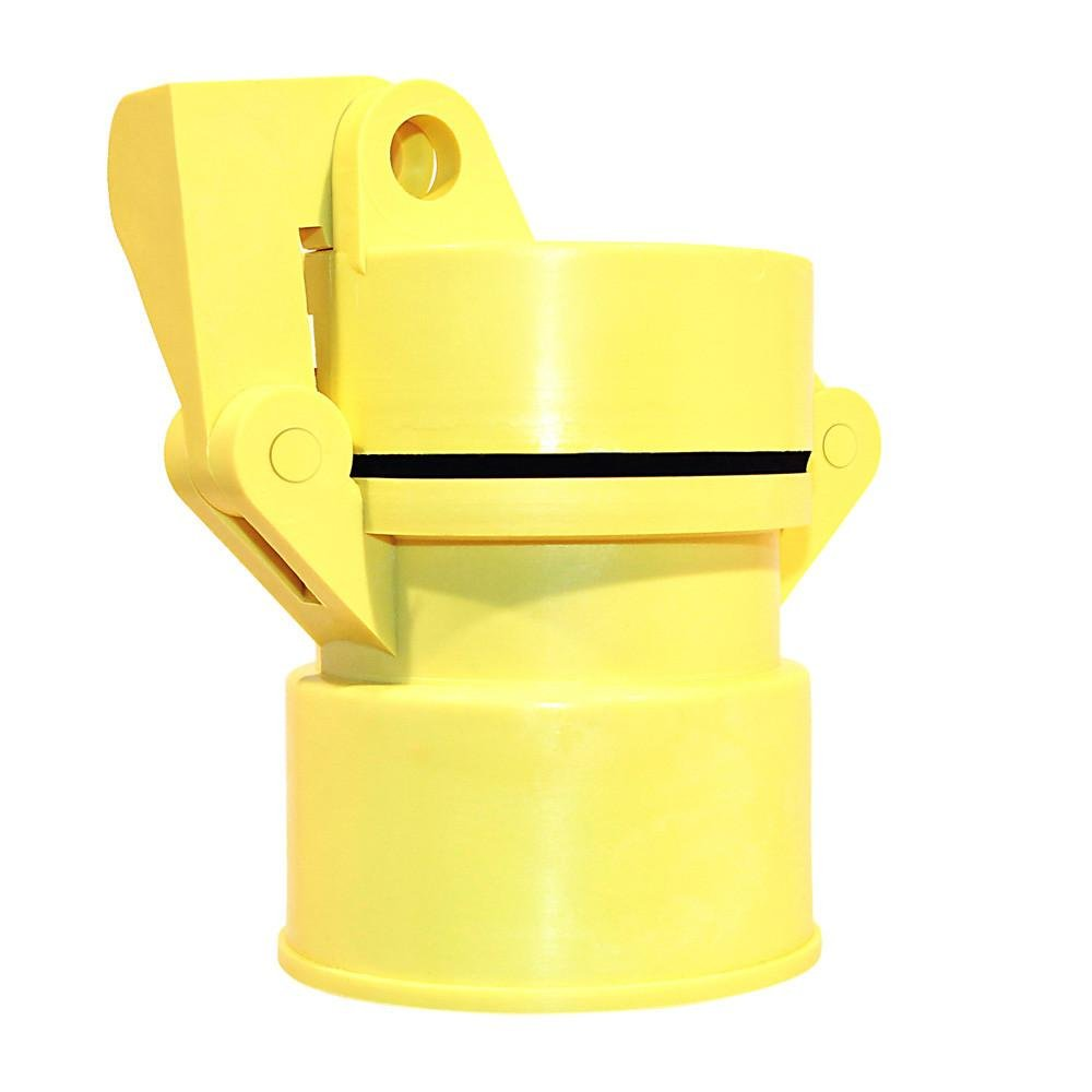 2'' Vented Locking Well Cap: Yellow gripNlock