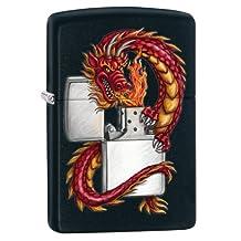 Zippo Dragon Windproof Lighter - Black Matte