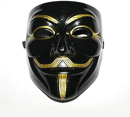 DLINF V-Vendetta - Máscara para disfraz de Guy Fawkes, anónimo ...