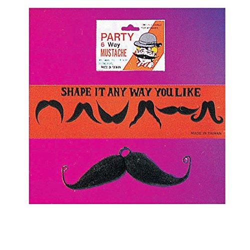[Rubie's Costume Co Six-Way Moustache-Black Costume] (Moustache Halloween)
