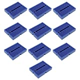 Optimus Electric 10pcs Mini Solderless Breadboard Color Blue with 170 Tie Points for Arduino, Protoyping and Electronic Laboratory Experiments from