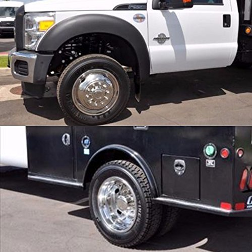 Wheel Simulators 19.5 Inch 10 Lug Hubcap Kit Polished Dually Wheel Simulator Set for 2005-2017 Ford F450-F550 2WD Truck (for 2005-2017 Ford F450-F550 2WD Truck) ()