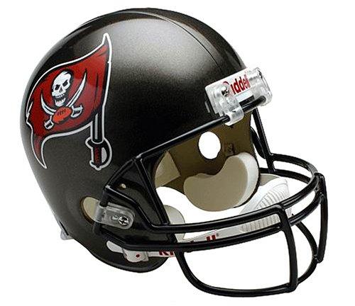NFL Tampa Bay Buccaneers Deluxe Replica Football Helmet (Replica Bay Tampa Helmet Football Buccaneers)